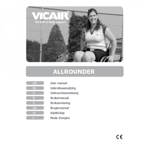 skin protection sports cushion Vicair AllRounder manual