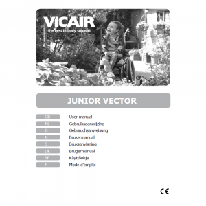 wheelchair cushion children Vicair Junior Vector manual