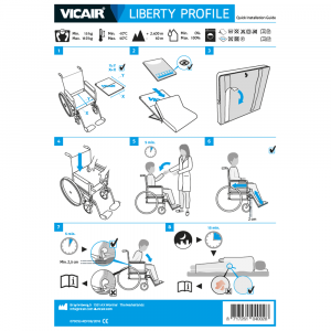 wheelchair cushion Vicair Liberty Profile quick installation guide