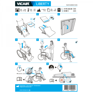 Wheelchair cushion Vicair Liberty quick installation guide