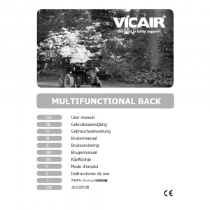wheelchair back cushion Vicair Multifunctional