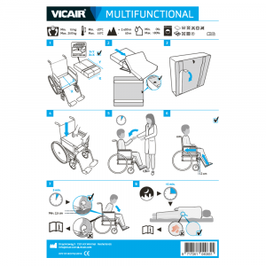 wheelchair cushion Vicair Multifunctional quick installation guide