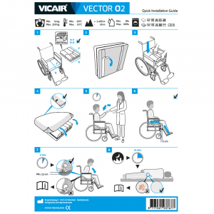 wheelchair cushion machine washable Vicair Vector O2 quick installation guide