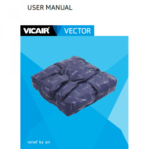 wheelchair cushion Vicair Vector manual