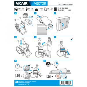 wheelchair cushion Vicair Vector quick installation guide