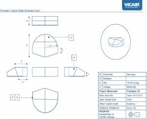Vicair Custom Made motor saddle cushion for Nicola Dutto