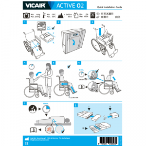 wheelchair cushion Vicair Active O2 quick installation guide