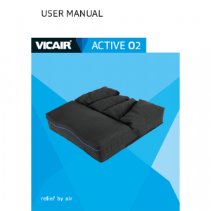 wheelchair cushion Vicair Active O2 user manual