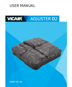 Vicair-Adjuster-O2-machine-washable-wheelchair-cushion-Manual