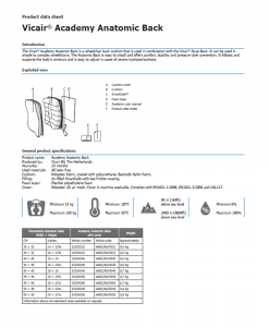 Vicair-Anatomic-Back-Product-data-sheet