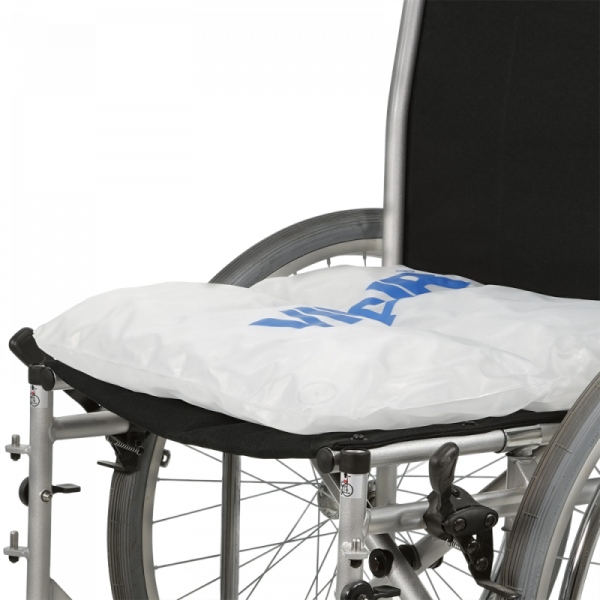 Wheelchair cushion Vicair Liberty on wheelchair without cover