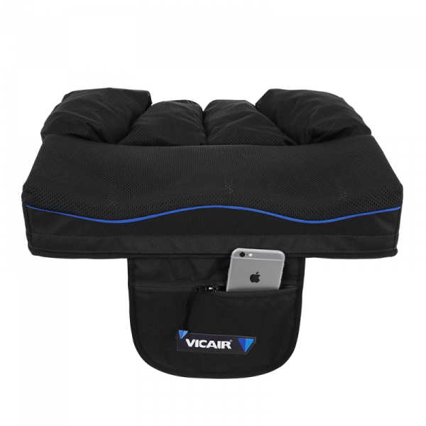 Wheelchair cushion Vicair Active O2 9cm storage pouch with phone