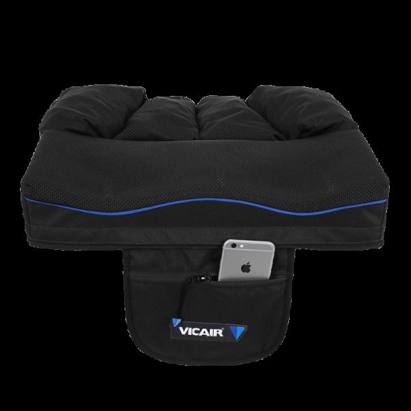 Wheelchair cushion Vicair Active O2 9cm storage pouch with phone
