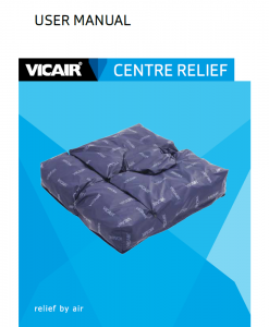 Vicair Centre Relief wheelchair cushion manual