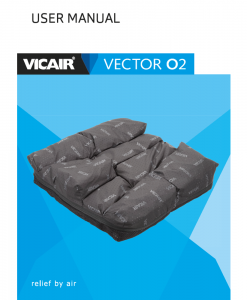 Vicair Vector O2 wheelchair cushion manual 2017