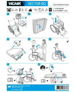 Vicair Vector O2 wheelchair cushion quick installation guide