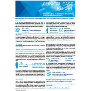 Vicair Clinical Case Report - Reducing pressure ulcer incidents and saving money in staff maintenance by using Vicair cushions