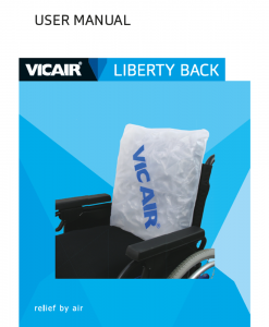Vicair Liberty wheelchair back support cushion Manual