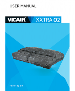 Vicair XXtra O2 wheelchair cushion bariatric Manual