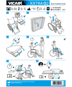 Vicair XXtra O2 wheelchair cushion bariatric quick installation guide