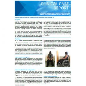 Vicair Clinical Case Report - Pressure redistribution and stability through immersion on a Adjuster 12