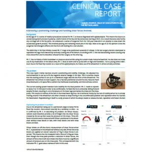 Vicair Clinical Case Report - Addressing a postioning challenge and handling shear forces involved