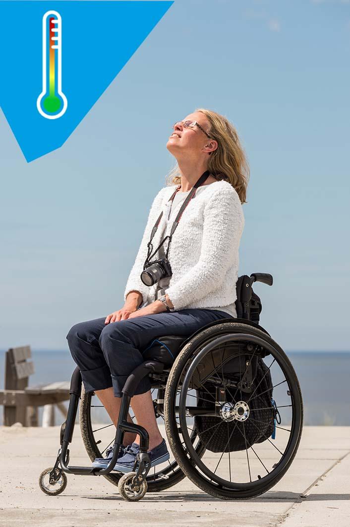 Wheelchair air cushion Vicair Vector O2 microclimate temperature control